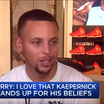 """Steph Curry: """"I Love That Colin Kaepernick Stands Up For His Beliefs"""""""