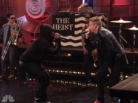 "Macklemore Feat. Ryan Lewis & Schoolboy Q ""Perform ""White Walls"" (Live On Leno)"" Video"