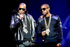 Jay-Z And Kanye Presented With Platinum Plaques