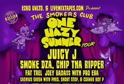 """Juicy J To Headline """"One Hazy Summer"""" Smokers Club Tour, With Guests Smoke DZA, Chip Tha Ripper & More"""