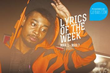Lyrics Of The Week: March 1st - 7th