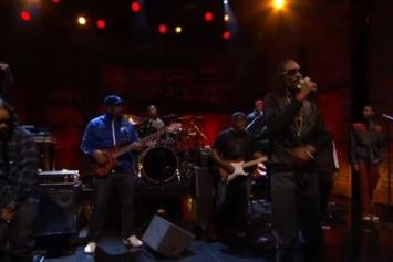 "Snoop Dogg & Dam-Funk Perform ""Faden Away"" On Conan"