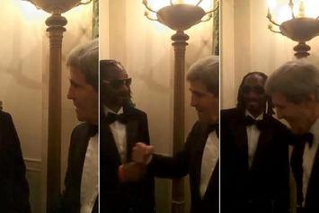 Snoop Dogg Daps John Kerry At The White House