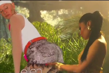 "Ellen Degeneres Spoofs Nicki Minaj's ""Anaconda"" Video"