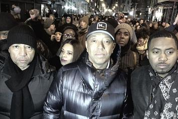 Nas & Russell Simmons March In NYC Protest