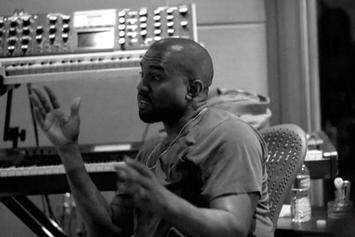 "Big Sean & Kanye West In The Studio Making ""Blessings"""