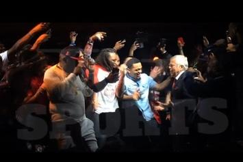 """New England Patriots Owner Joins Rick Ross Onstage For """"Ima Boss"""""""