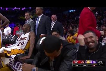 Drake Jokes Around With Kobe Bryant At NBA Game