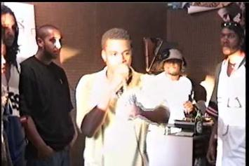 Watch Vintage Footage Of Kanye West Rapping At Fat Beats Party In 1996