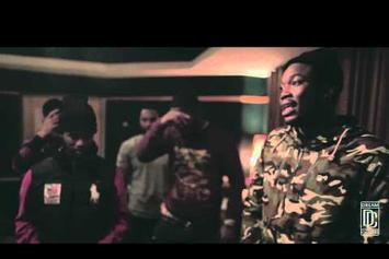 "Meek Mill Feat. Louie V Gutta ""Freestyle In The Studio"" Video"