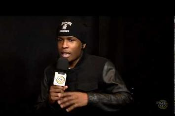 """ASAP Rocky """"Talks On His Style Of Music, Rihanna & More"""" Video"""