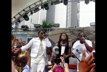 "Diddy, Mase & Lil Wayne Perform ""Mo Money, Mo Problems"" In Vegas"