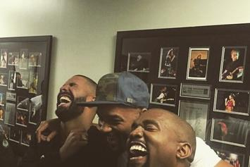Drake, Kanye West & Will Smith Laughing At Meek Mill Memes Backstage At OVO Fest?