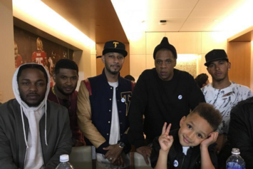 Jay Z, Kendrick Lamar, Usher, & Swizz Beatz Shared A Suite At The Super Bowl