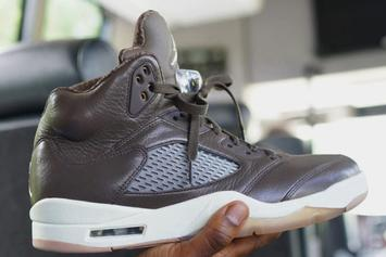 "Anthony Hamilton Debuts An Unreleased ""Chocolate"" Air Jordan 5"
