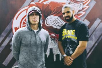 """Drake Brings Out Eminem For Detroit's """"Summer Sixteen"""" Stop"""