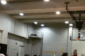 Watch Drake Make A Half Court Shot While Lying Down On His Back