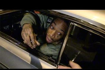 Wiz Khalifa Hands Out Nugs Of Weed To Paparazzi