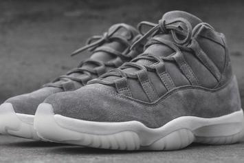 """Pinnacle """"Suede"""" Air Jordan 11s Unexpectedly Release At Select Boutiques"""