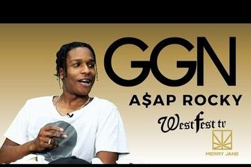 Watch A$AP Rocky Smoke With Snoop Dogg On GGN News