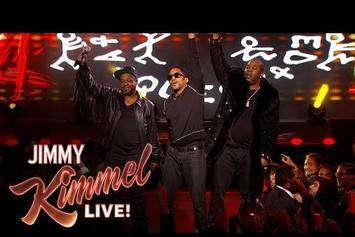 "A Tribe Called Quest & Busta Rhymes Perform ""Dis Generation"" On Kimmel"