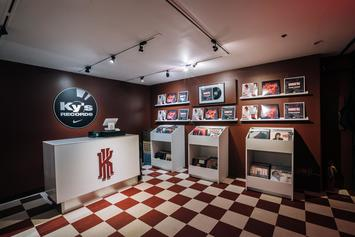 "Nike Basketball Introduces Ky's Records Shop In Honor Of The ""Warning"" Kyrie 3"