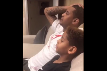 Watch Candid Video Of Carmelo Anthony Coaching Up His Son On Iso Basketball