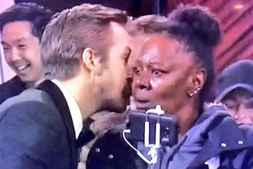 Photo Of Ryan Gosling Whispering Into Tourist's Ear Becomes Timeless Meme