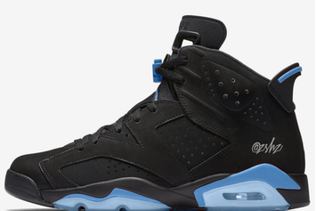 """""""Black/University Blue"""" Air Jordan 6s To Release Later This Year"""