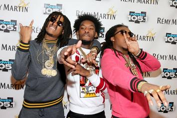 Migos & Donald Glover Link Up In London