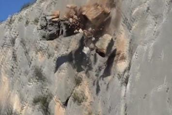 Rock Climber Narrowly Escapes Potential Death By Rock Fall