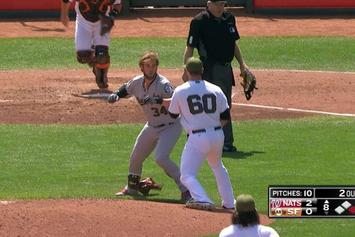 Bryce Harper And Hunter Strickland Throw Punches In Bench-Clearing Fight