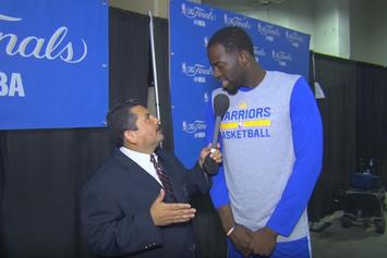 "Watch ""Guillermo vs. LeBron"" From NBA Finals Media Day"