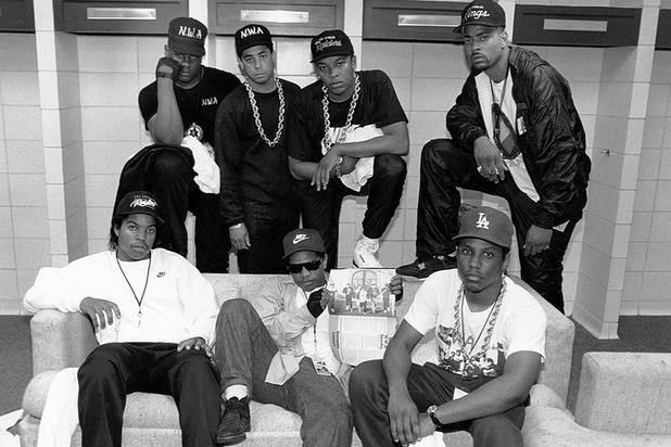 NWA dressing simple and casual with those big gold chains made cool in the 80s
