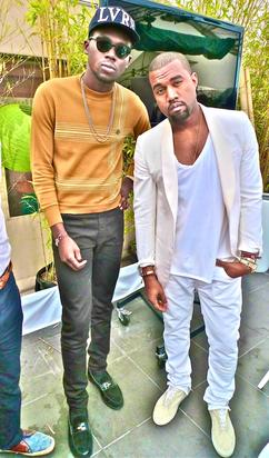 Theophilus London with Kanye West