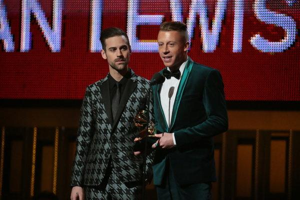Macklemore & Ryan Lewis at Grammys 2014, image via LA Times