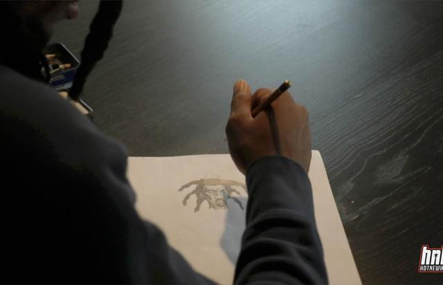 Denzel Curry drawing exclusively for HNHH