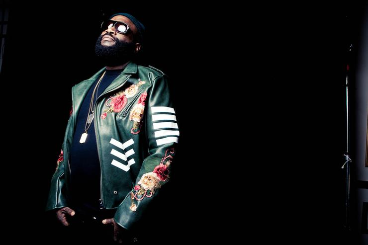 Rick Ross' photo shoot with The Source