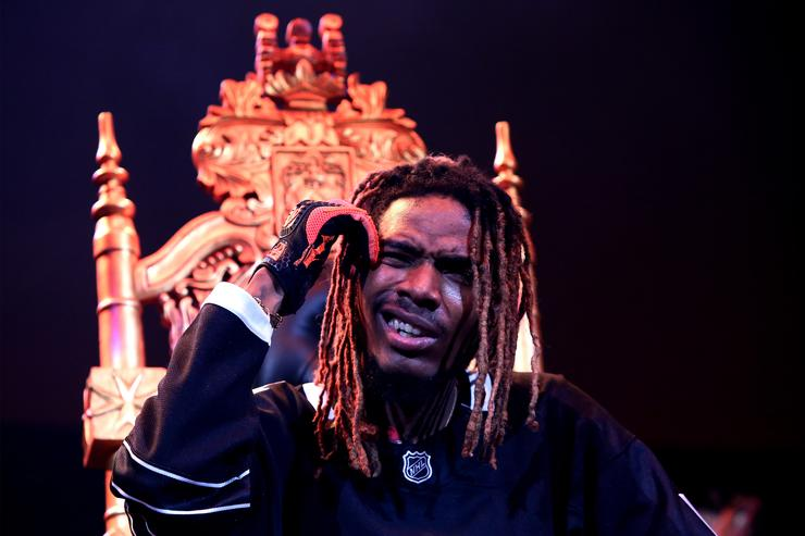 Fetty Wap performs on stage @ Powerhouse with boot