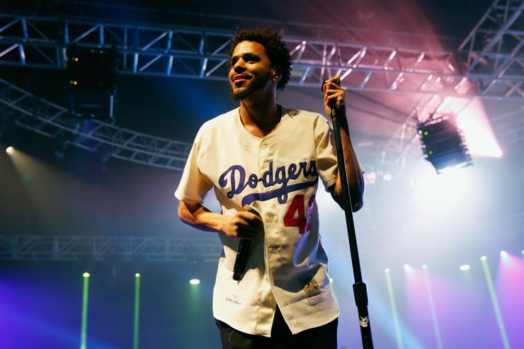 j. cole at an espn event