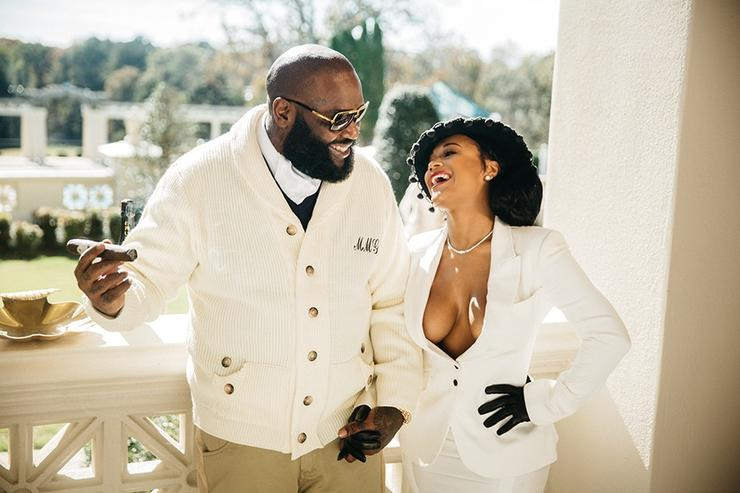 Rick Ross and Lira Mercer at Ross' atlanta estate