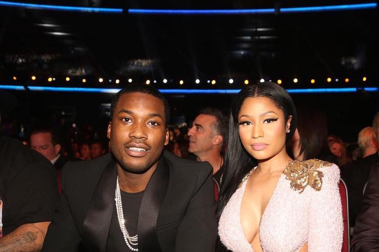 Nicki Minaj & Meek Mill at awards show
