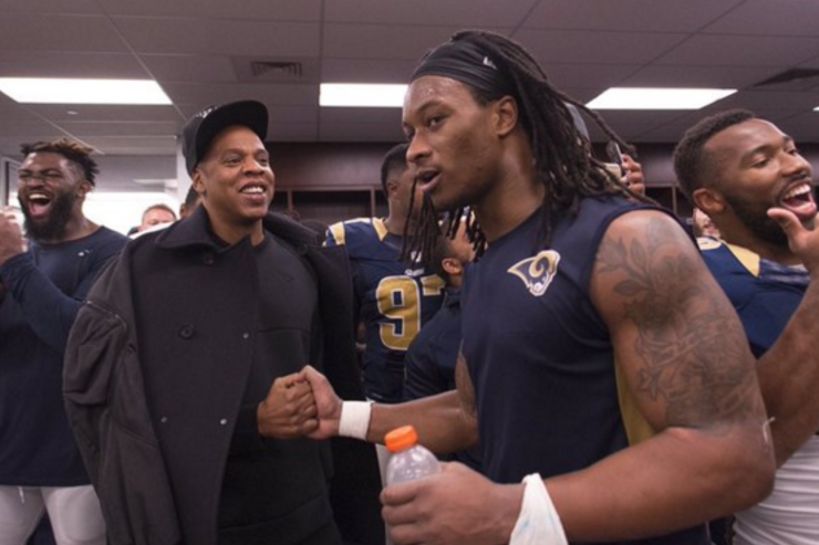 Jay Z With St. Louis Rams