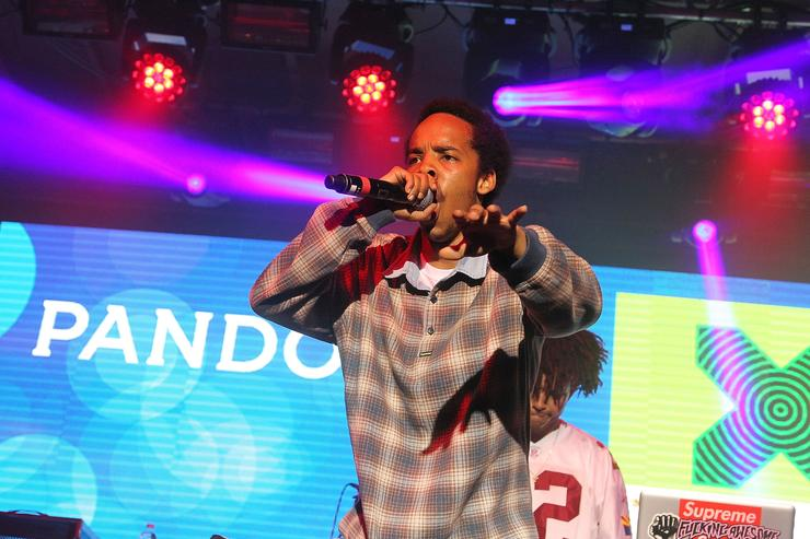 Earl Sweatshirt performing on stage at SXSW