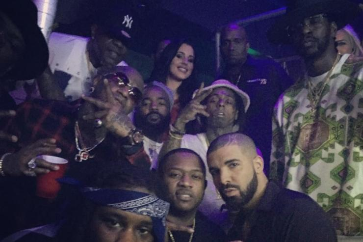 Lil Wayne & Birdman together at Drake's NYE Party