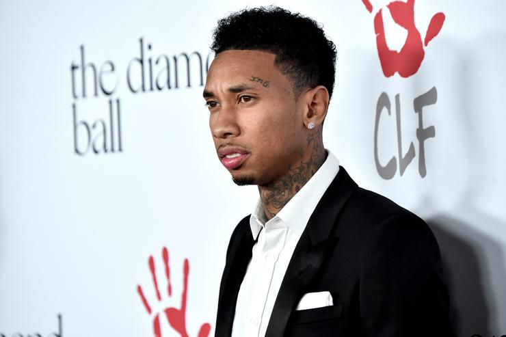Tyga at the diamond ball red carpet