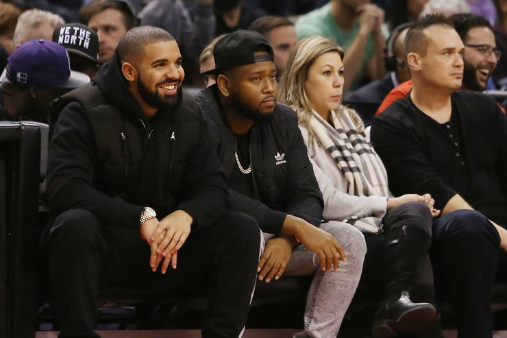 Drake at a Toronto Raptors game.