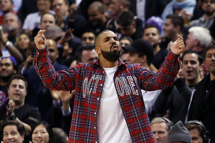 Drake At Toronto Raptors Game