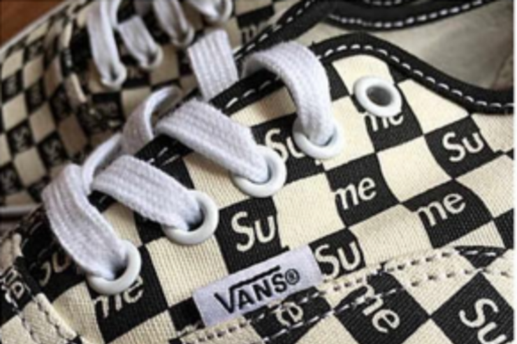 A Vans x Supreme Authentic.