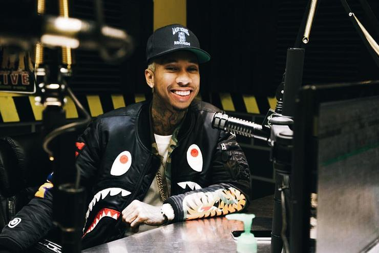 Tyga doing a radio interview